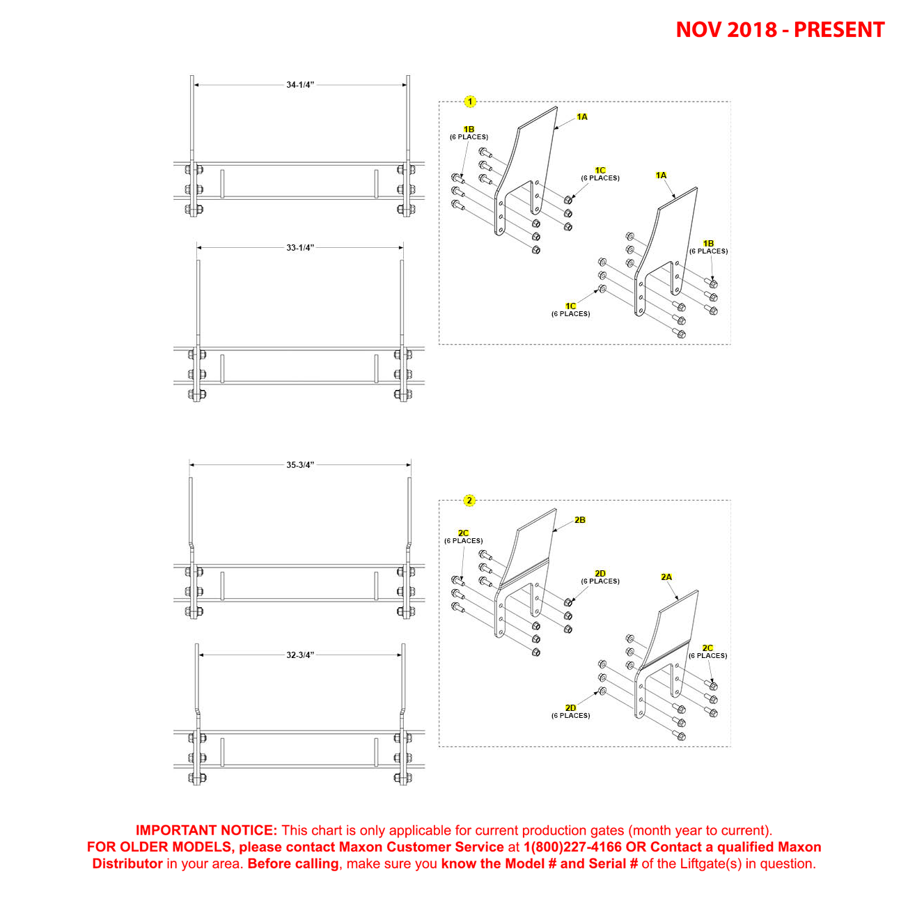 GPT-4/5 (Nov 2018 - Present) Mounting Plates Diagram
