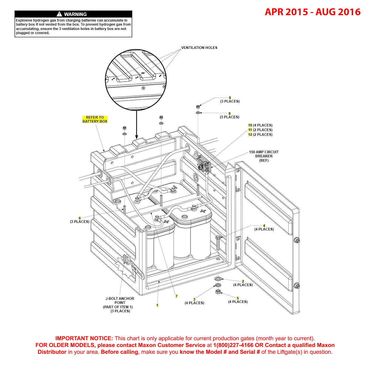 GPTWR (Apr 2015 - Aug 2016) Optional Battery Box Assembly Diagram