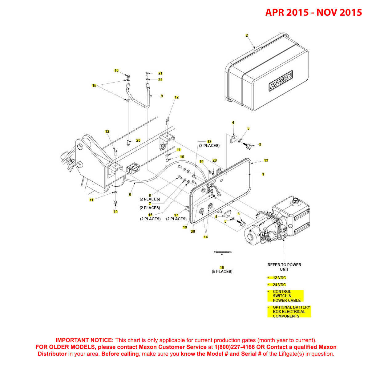 GPTWR (Apr 2015 - Nov 2015) Pump Cover And Mounting Plate Assembly Diagram