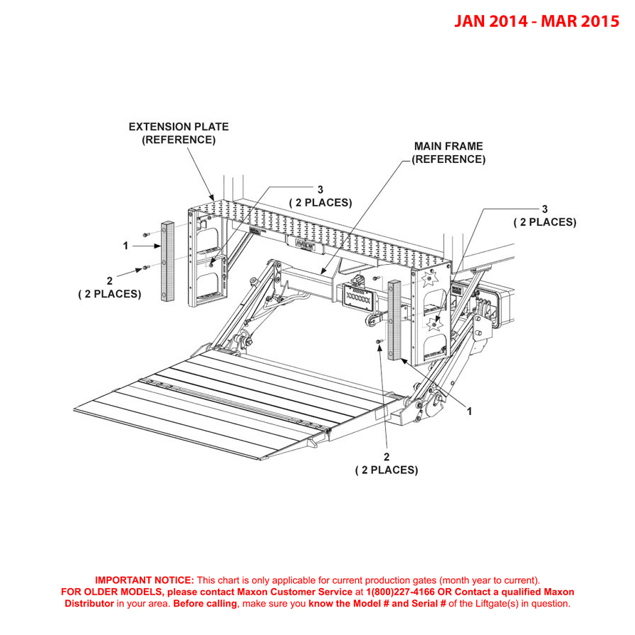 GPTWR (Jan 2014 - Mar 2015) 24 Inch Rubber Bumpers Diagram