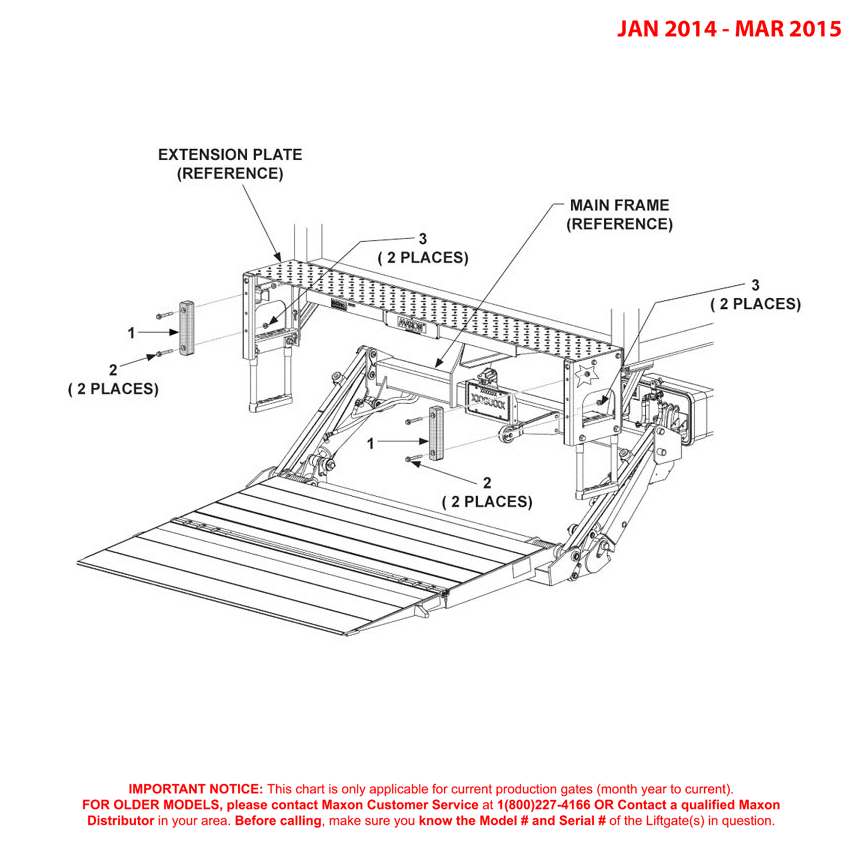 GPTWR (Jan 2014 - Mar 2015) Flex Step 11 Inch Rubber Bumpers Diagram