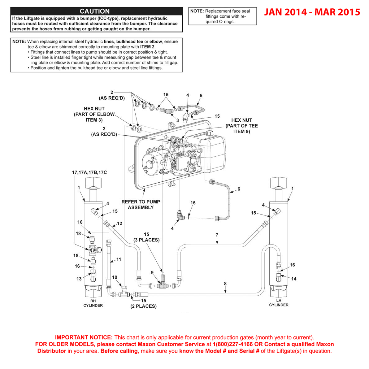 GPTWR (Jan 2014 - Mar 2015) Power Down Hydraulic Components Diagram