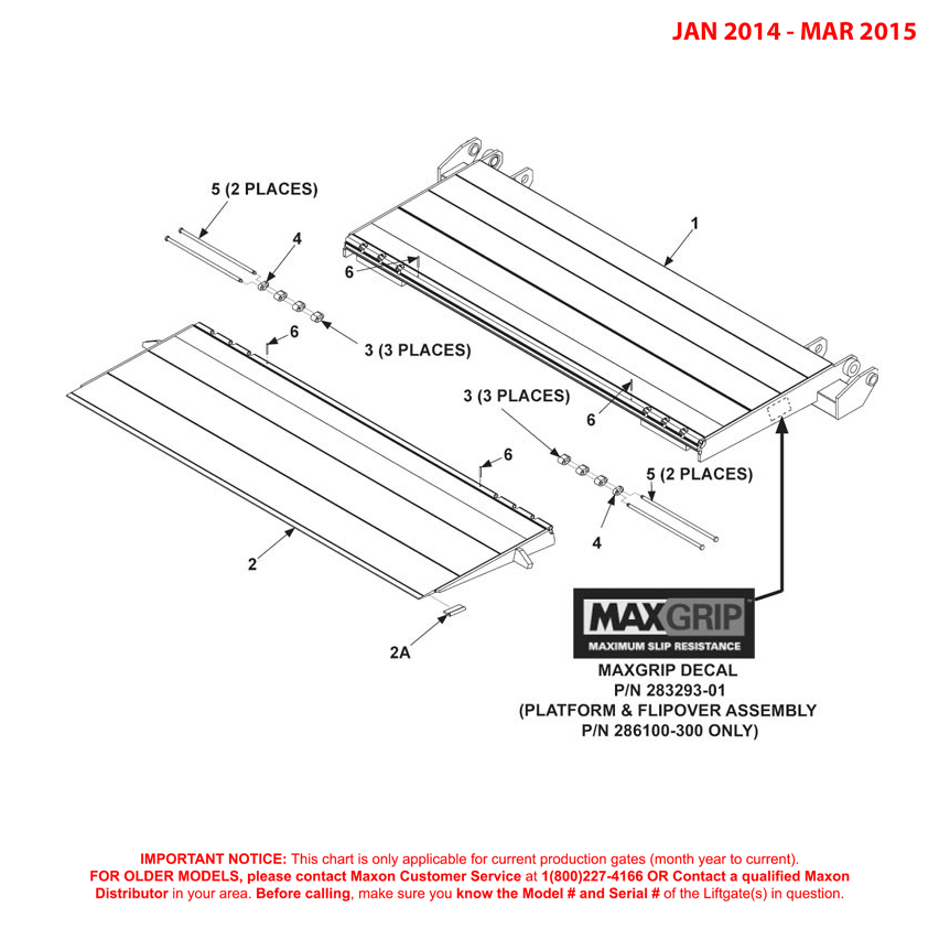 GPTWR (Jan 2014 - Mar 2015) Platform And Flipover Assembly