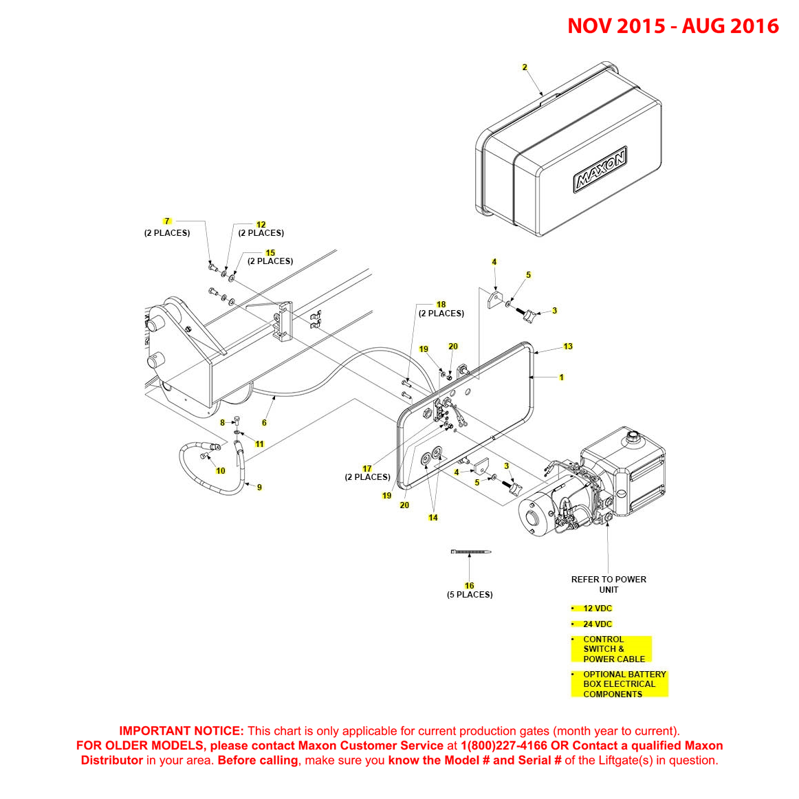 GPTWR (Nov 2015 - Aug 2016) Pump Cover And Mounting Plate Assembly Diagram