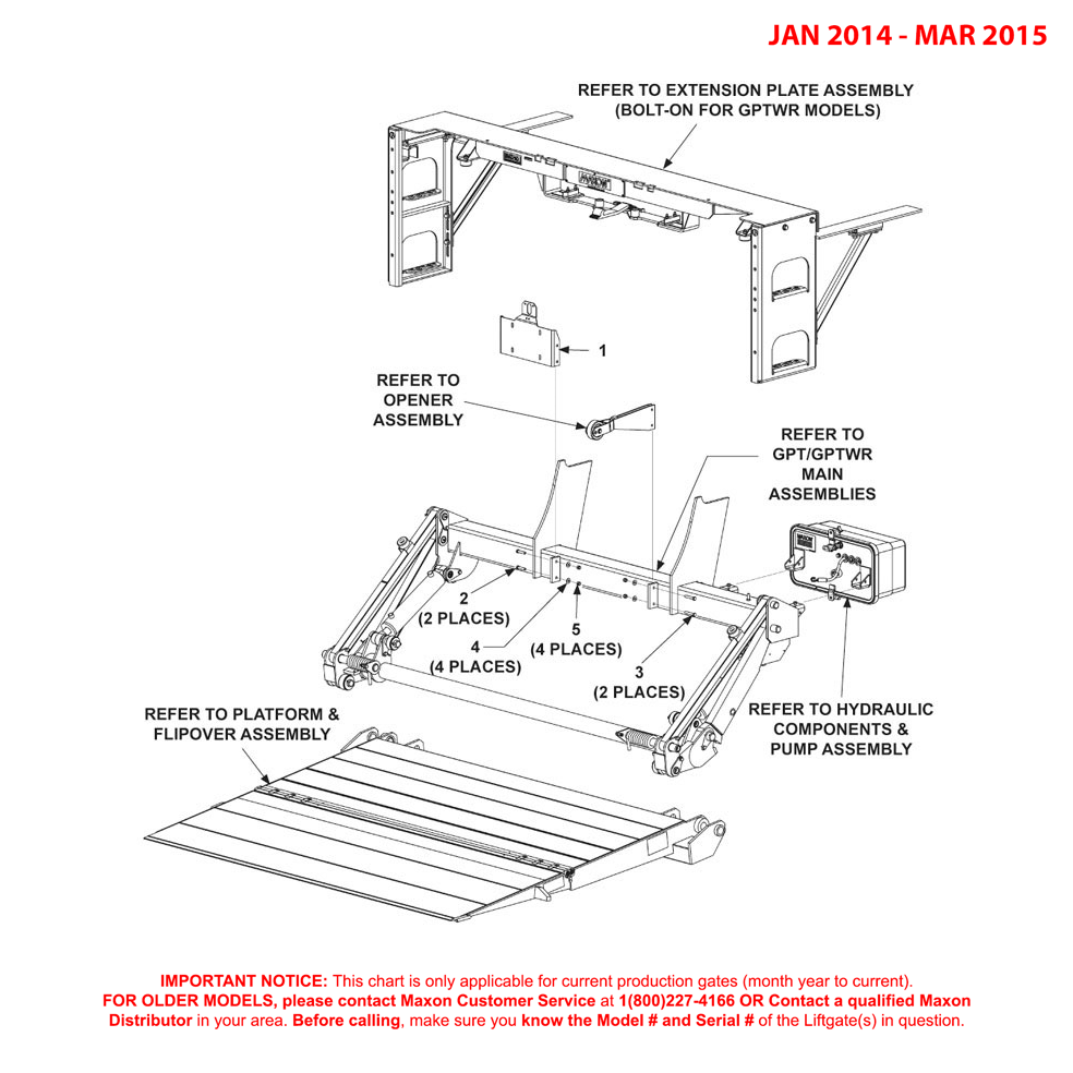 GPTWR-25 / GPTWR-3 (Jan 2014 - Mar 2015) Final Assembly Diagram