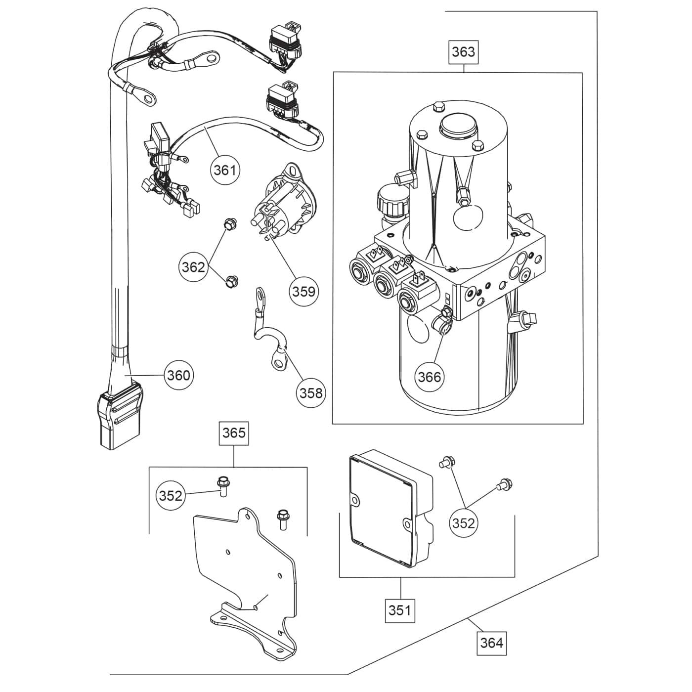 Fisher HD Series - Straight Blade Parts Diagram - ITEParts.com