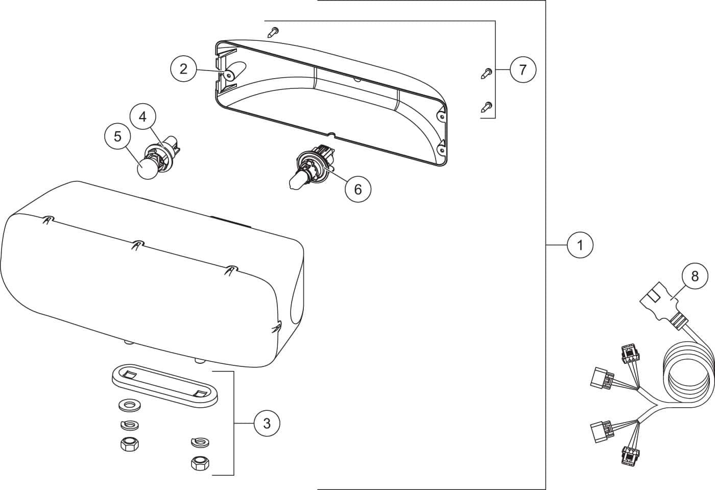 HDX Headlamp Kit Diagram