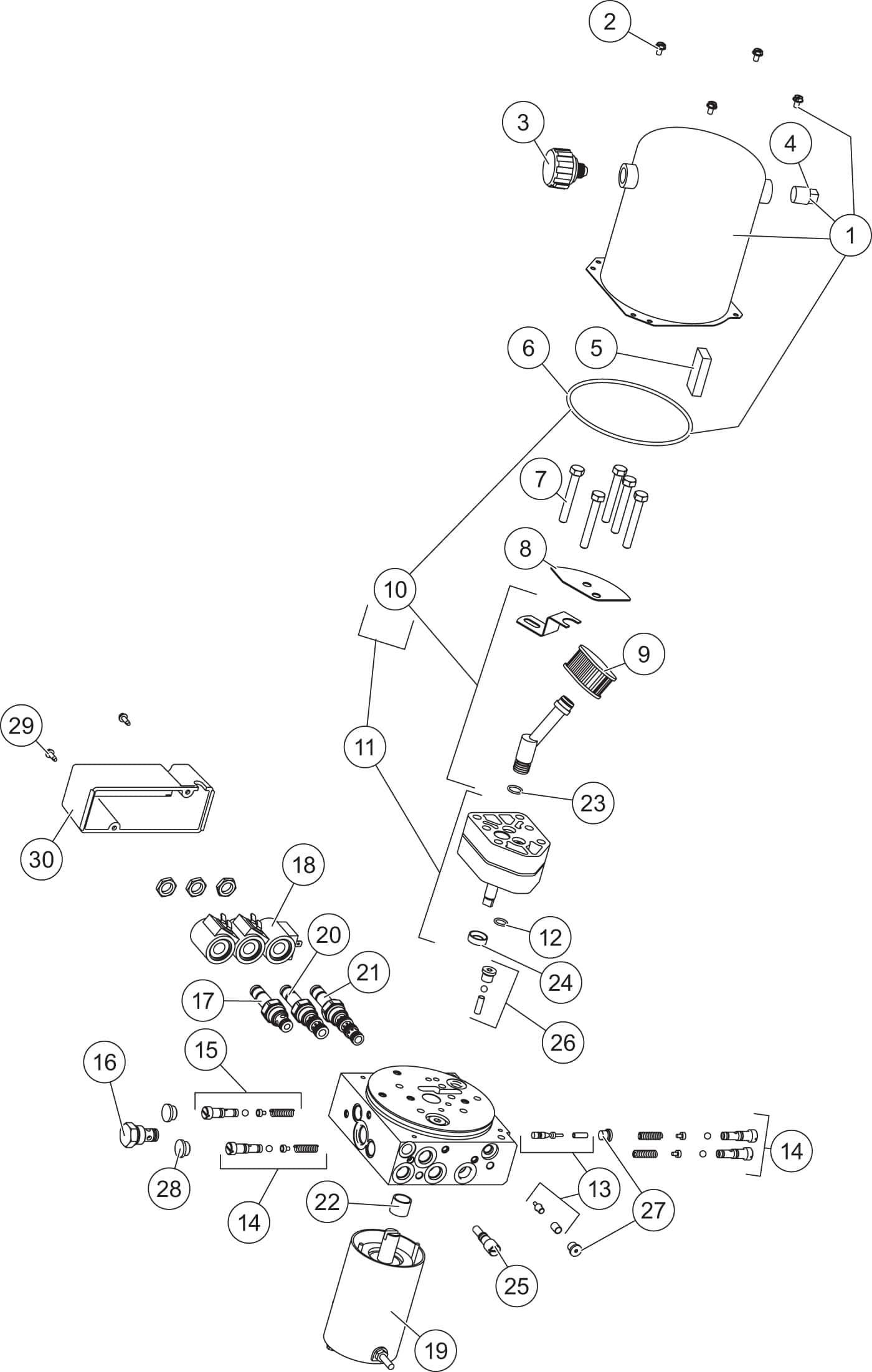 Fisher Homesteader Hydraulics Diagram Shop Trailer Wiring Hydraulic Unit 48601