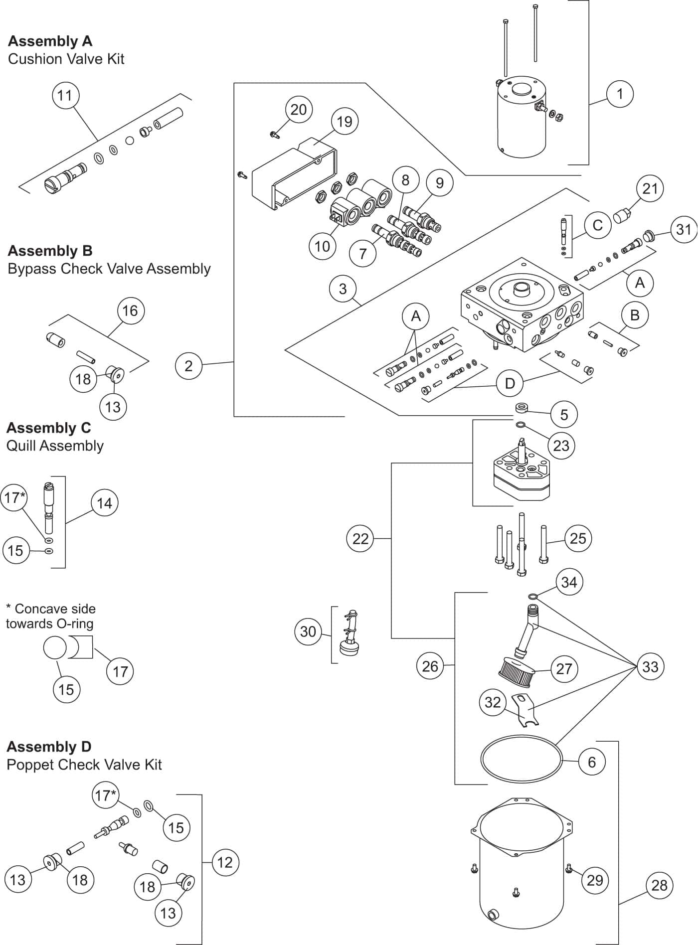 Homesteader Hydraulic Unit 56807F Diagram