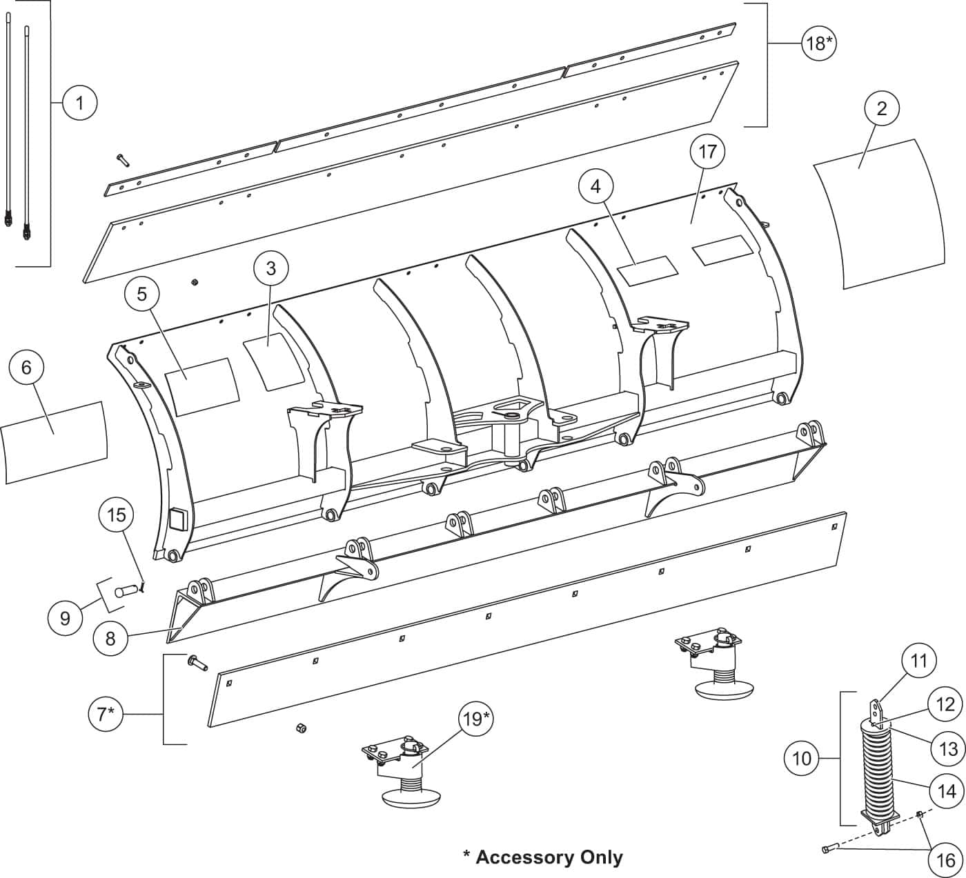 HT Series Blade Assembly Diagram