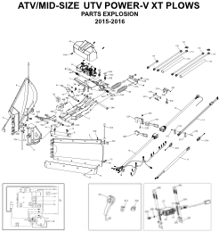 Diagram 1 BOSS ATV/UTV Power-V XT Plow Parts