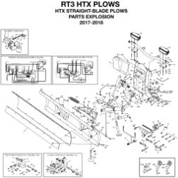 Diagram 1 - BOSS RT3 HTX Straight Blade Parts (1-18)
