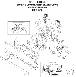 Diagram 1 - BOSS Trip Edge Super Duty Straight Blade Parts