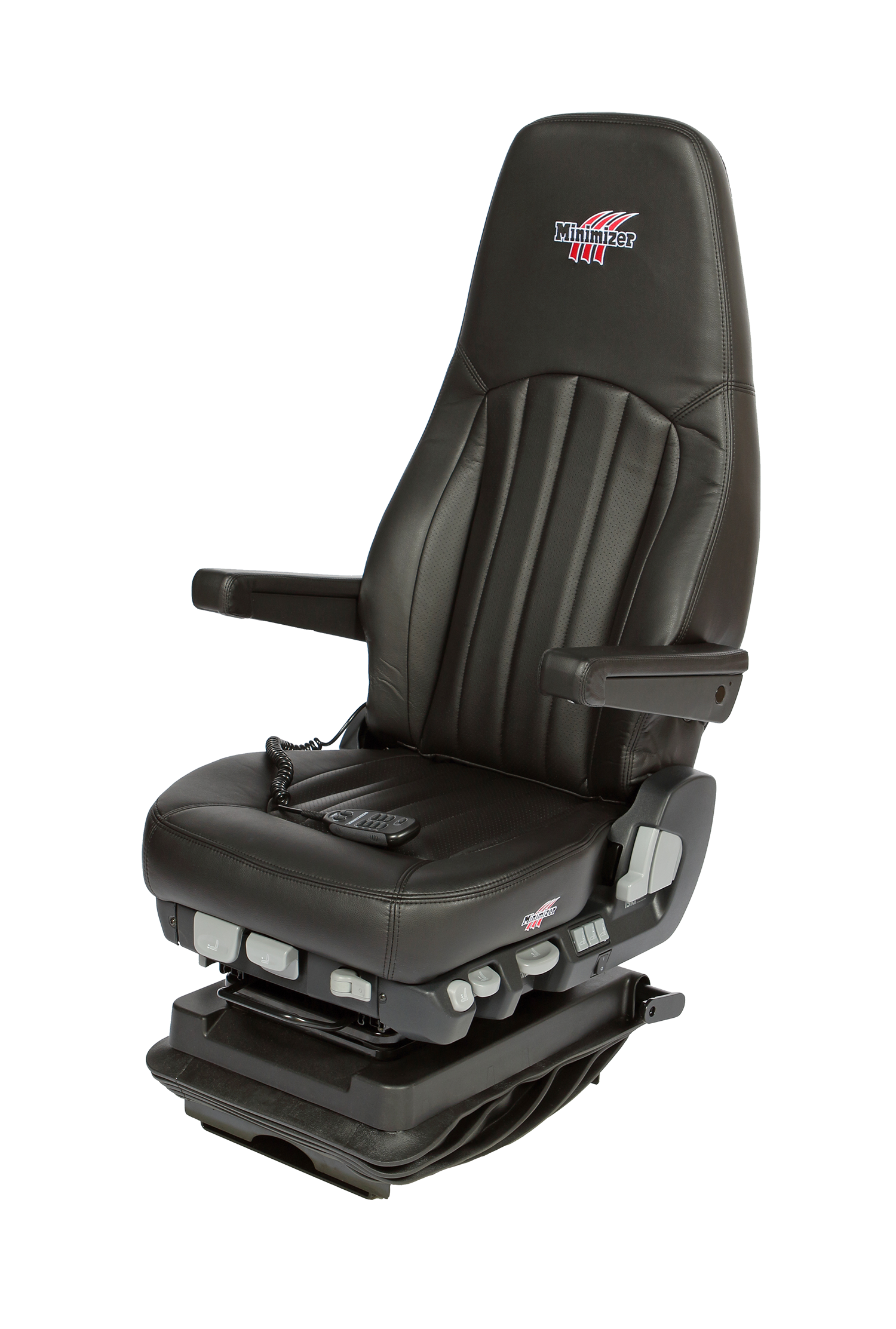 Minimizer Heavy Duty Semi Truck Seats - Ultra Leather Heat and Cool