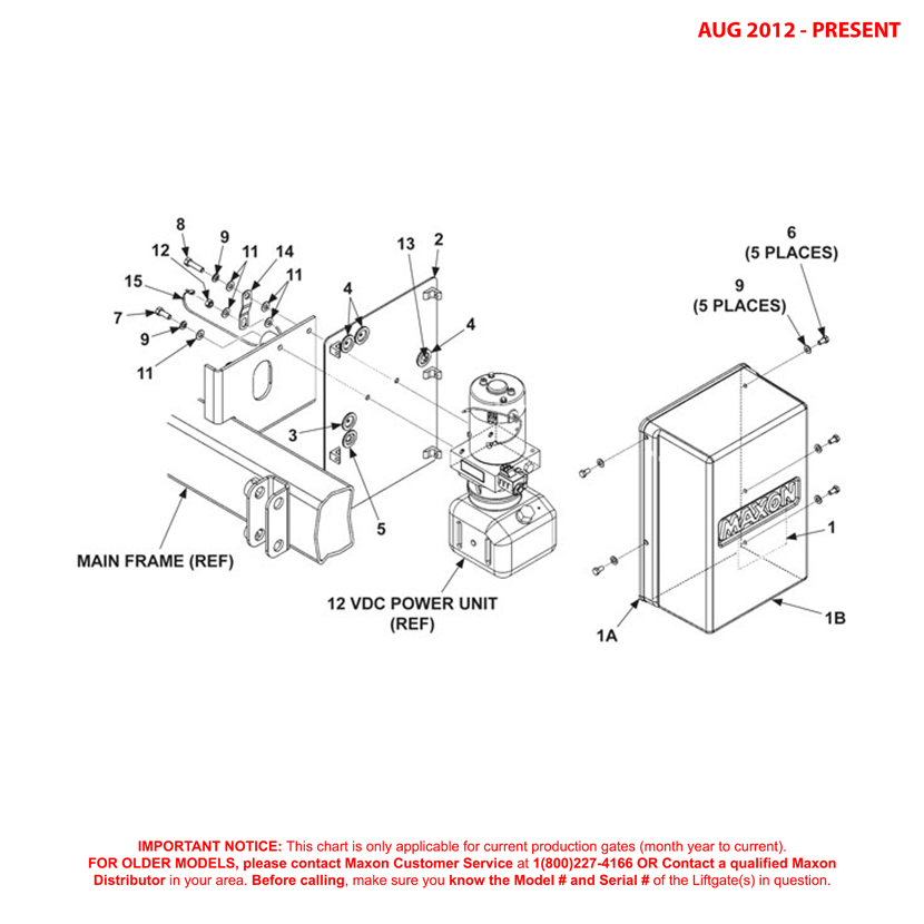 MTB (Aug 2012 - Present) Gravity Down Pump Cover And Mounting Plate Assembly Diagram