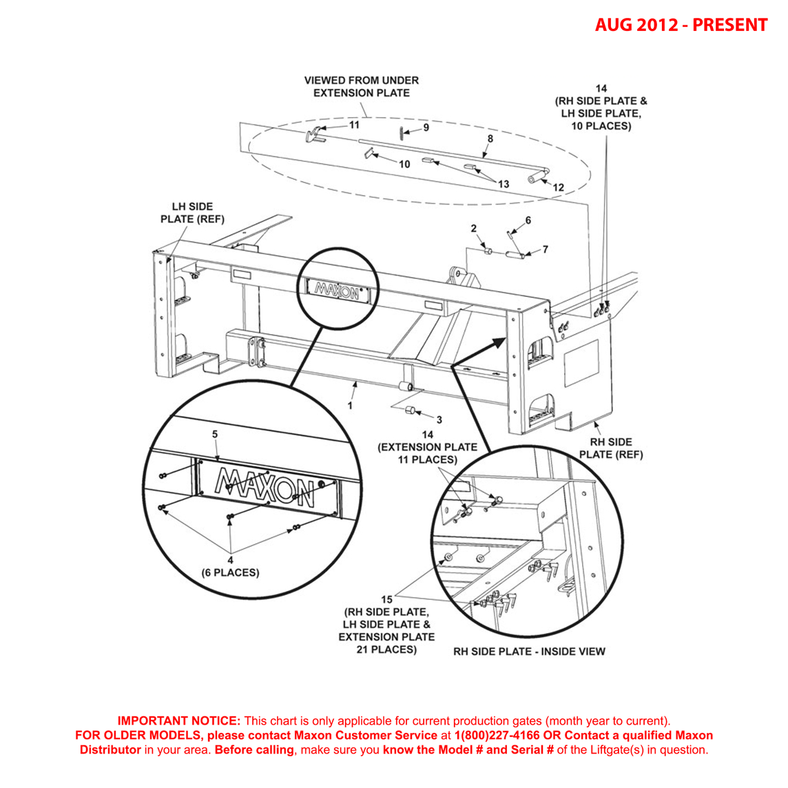 MTB (Aug 2012 - Present) Main Frame Assembly Diagram