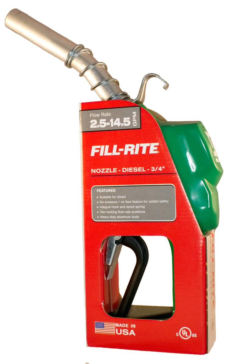 Fill-Rite N075DAU10 - 3/4 in Auto Nozzle with Hook - Diesel