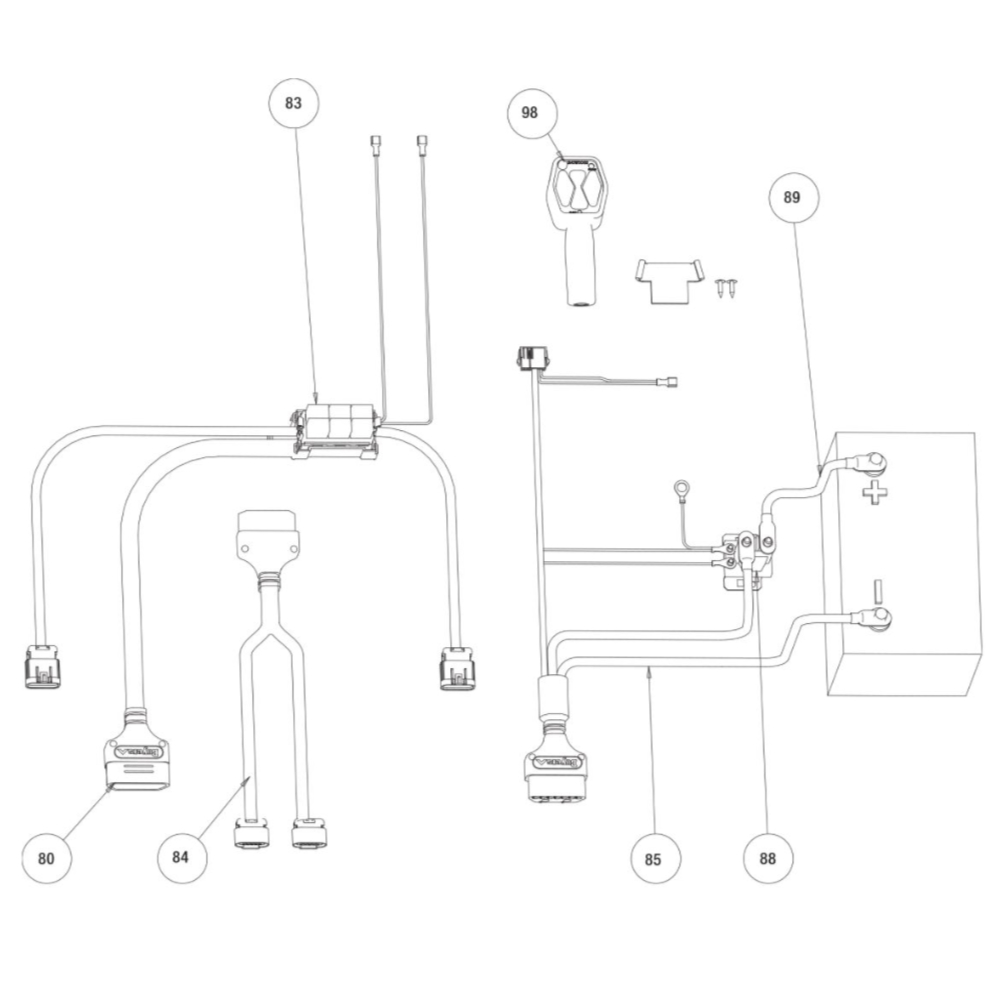Buyers SnowDogg Discontinued Models HD75-80 Harness Diagram