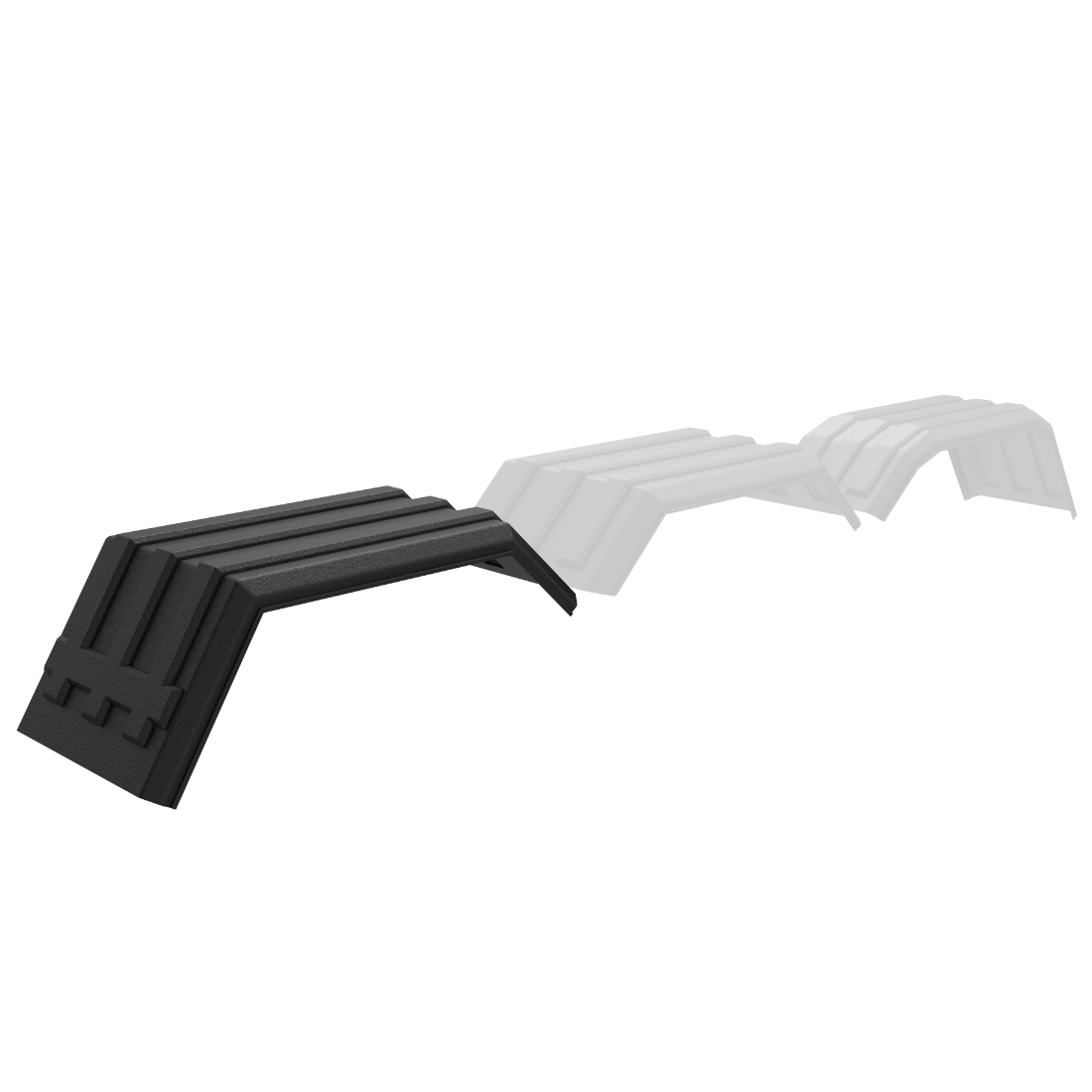 Minimizer PM202 Tri-Axle Poly Fender Rear Sections