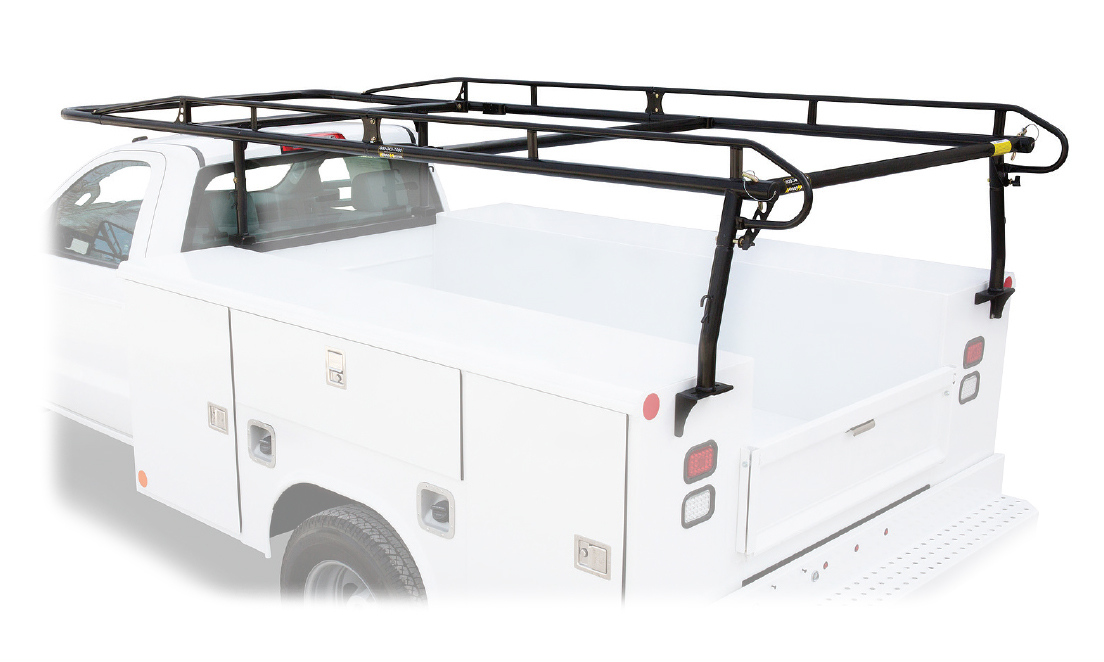 Pro II Heavy Duty Cargo Rack (For Trucks With Caps) Legs and Bars [Black]