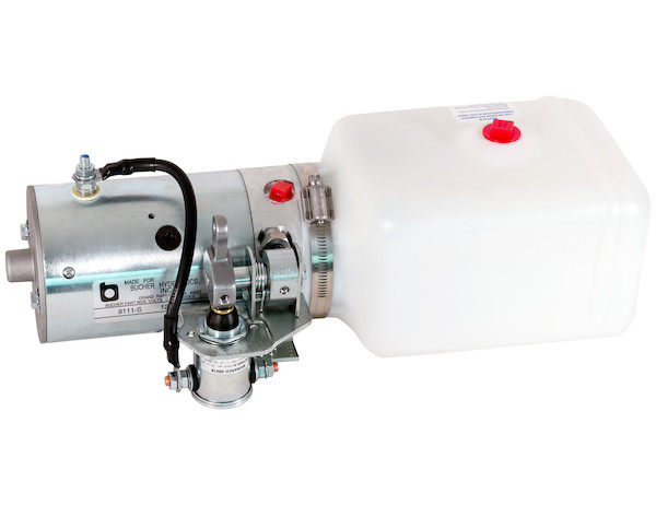 3-Way DC Power Unit w/ Metered Release Valve (Horizontal 0.86 Gal Poly Reservoir)