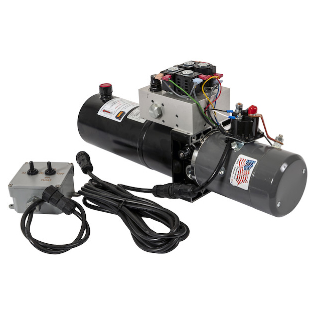 Buyers PU3593LRA - Buyers Brand 4-Way/3-Way DC Power Unit With Electric Controls (Horizontal 0.75 Gallon Reservoir