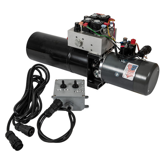 Buyers PU3593LRVA - Buyers Brand 4-Way/3-Way DC Power Unit With Electric Controls (Vertical 0.75 Gallon Reservoir)