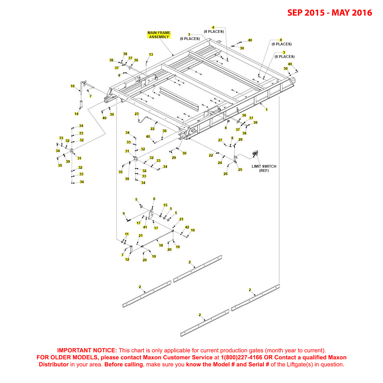 RA (Sep 2015 - May 2016) Main Frame Assembly Diagram