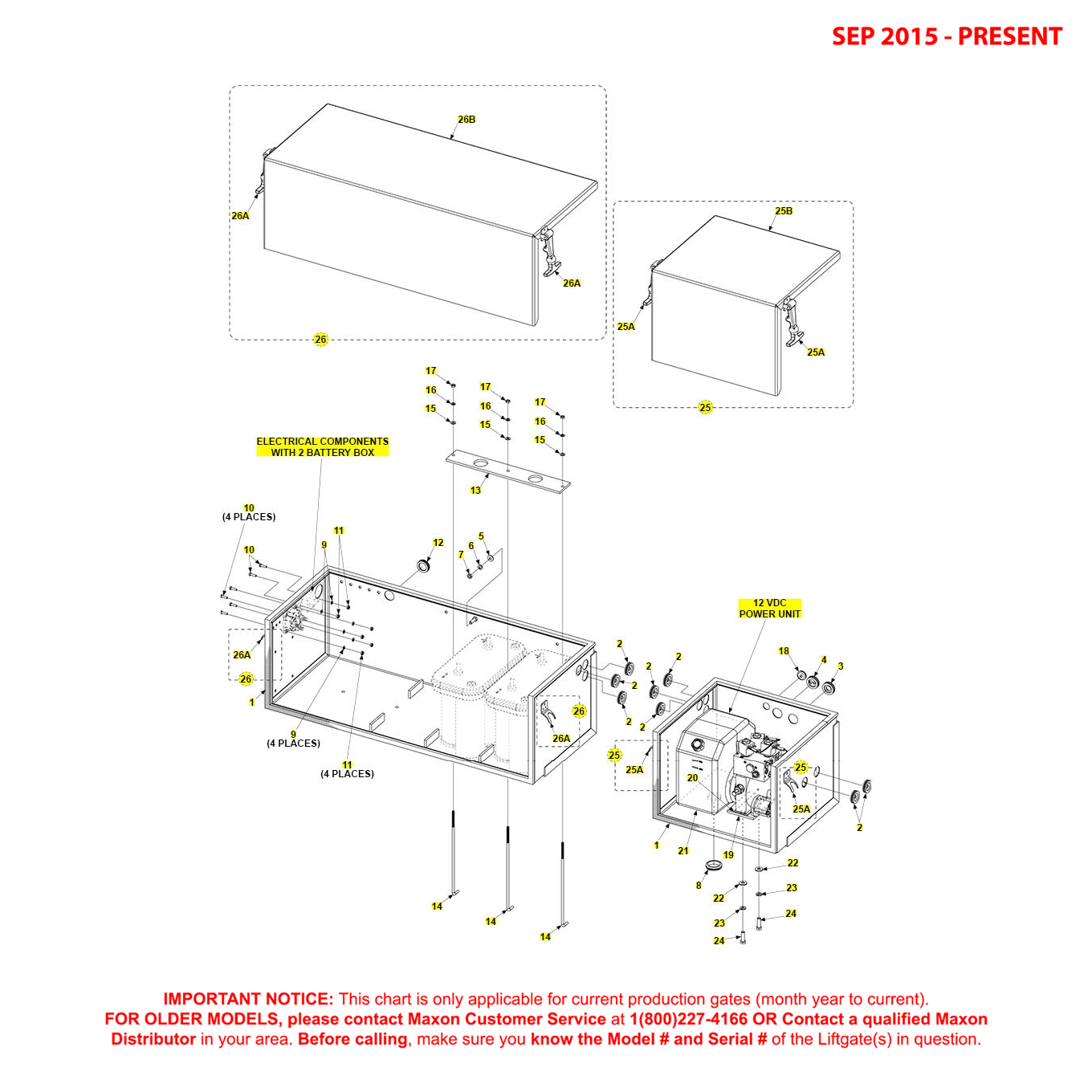 RA (Sep 2015 - Present) Battery And Pump Box Assembly For 82 Inch Mainframe With 2 Battery Box