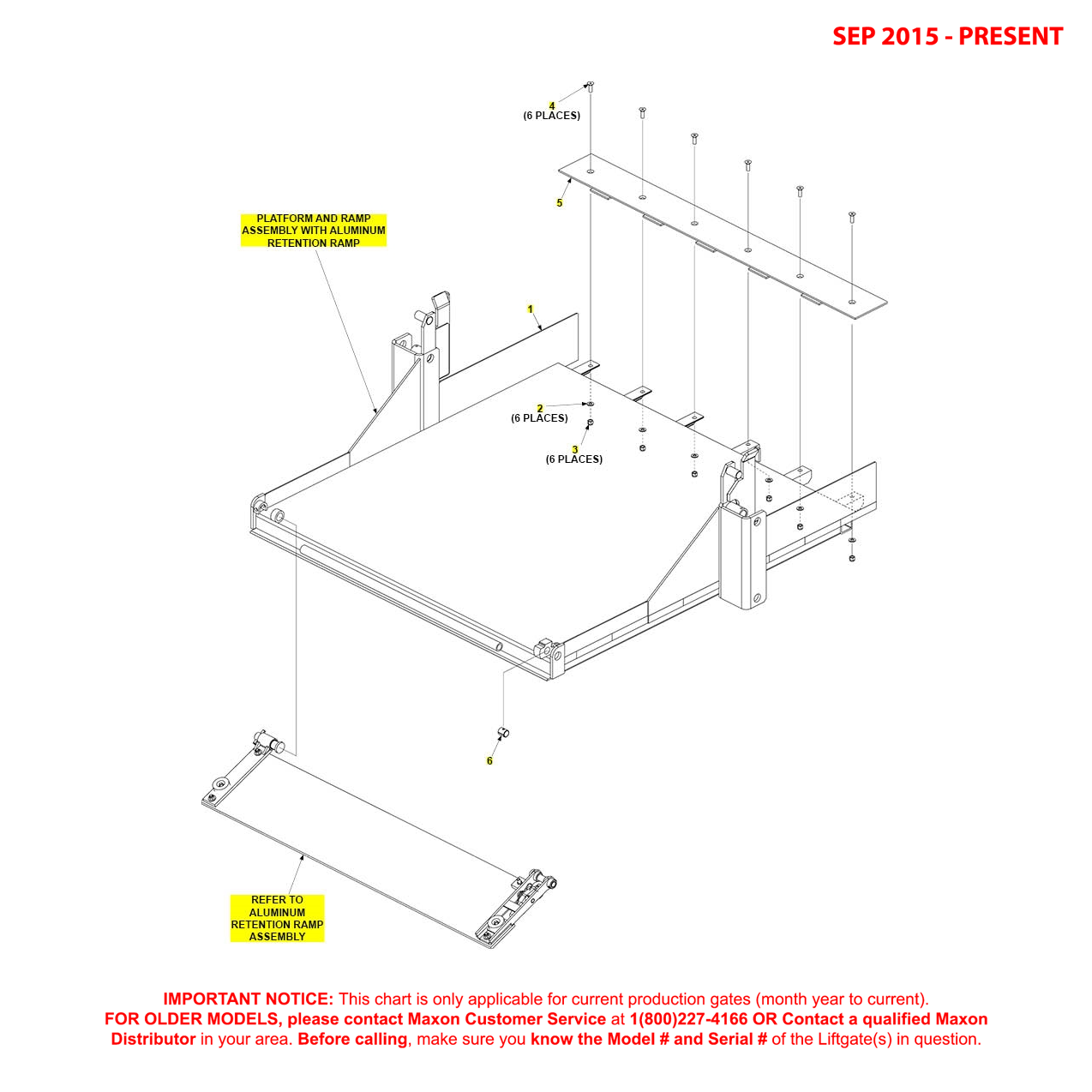 RA (Sep 2015 - Present) 48 And 60 Inch Platform And Aluminum Retention Ramp Assembly