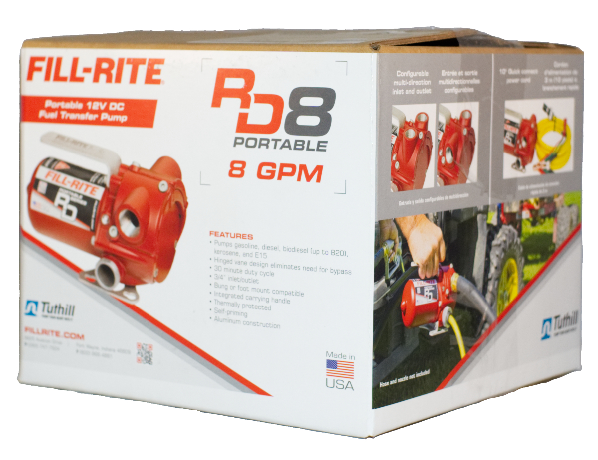 Fill-Rite RD812NN - 8 GPM (30 LPM) Portable Fuel Transfer Pump