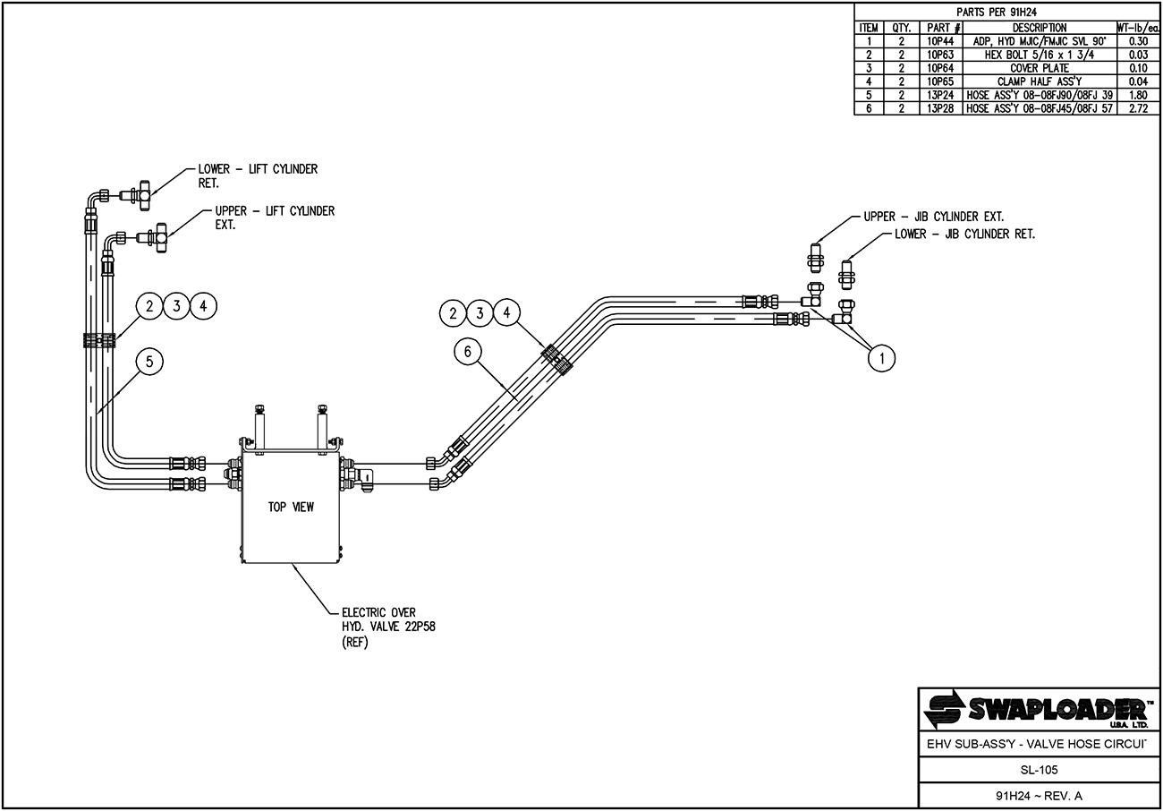 sl 105 ehv sa vhc swaploader 100 series swaploader sl 105 hooklift diagrams