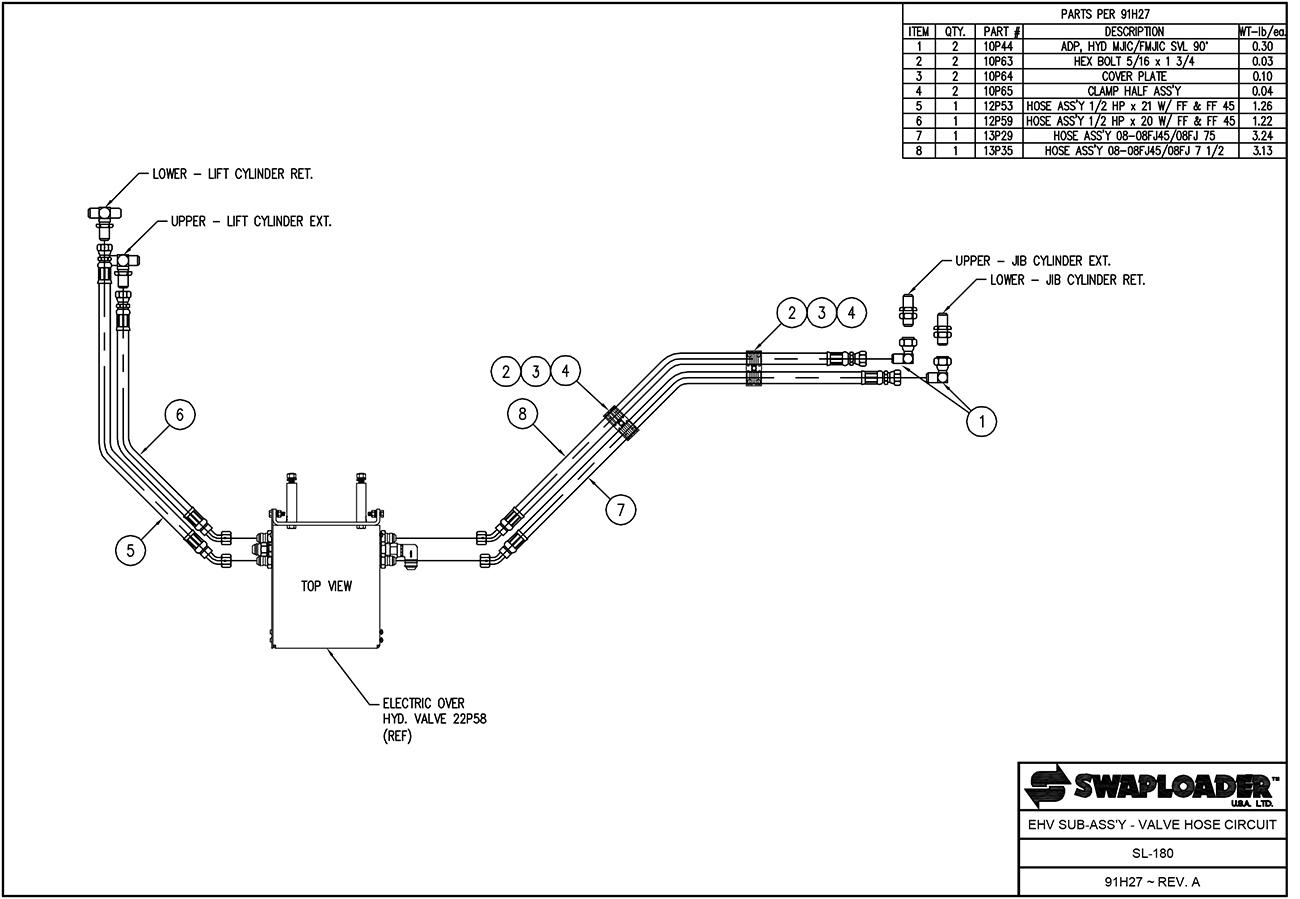 sl 180 ehvsa vhc swaploader 100 series sl 180 hooklift diagrams shop ite parts