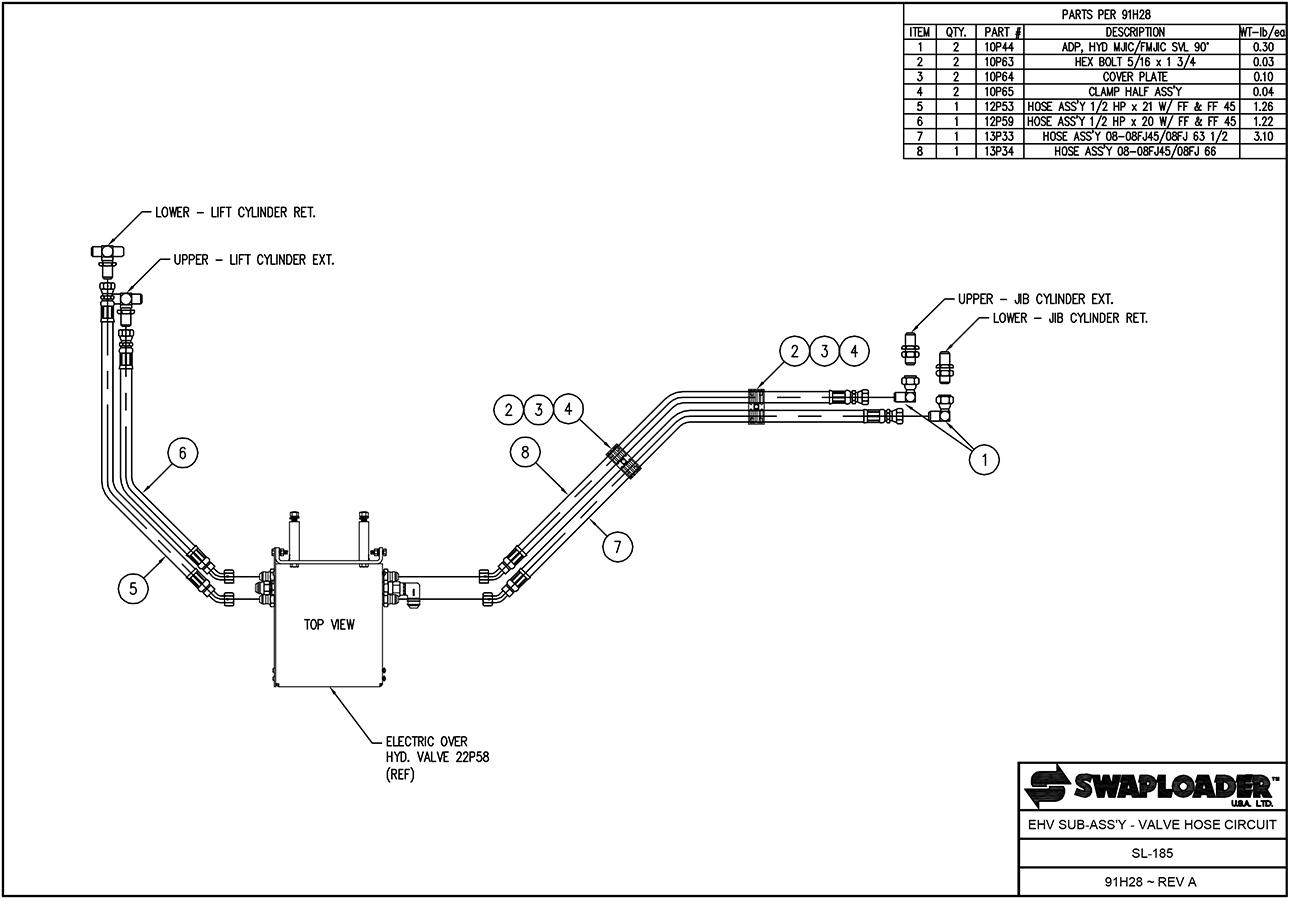sl 185 ehvsa vhc swaploader 100 series sl 185 hooklift diagrams iteparts com