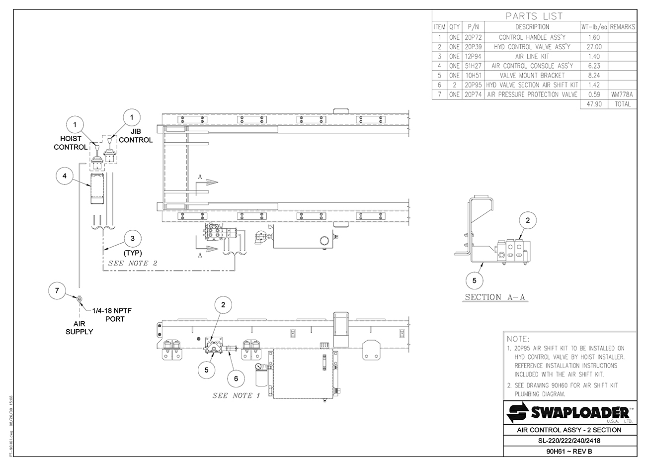 Swaploader 200 Series Sl 240 Hooklift Diagrams Tailgate Salt Spreader Wiring Diagram Air Control Assembly 2 Section