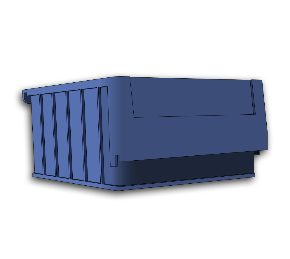 Plastic Drawer Bin With Dividers (For 40250)