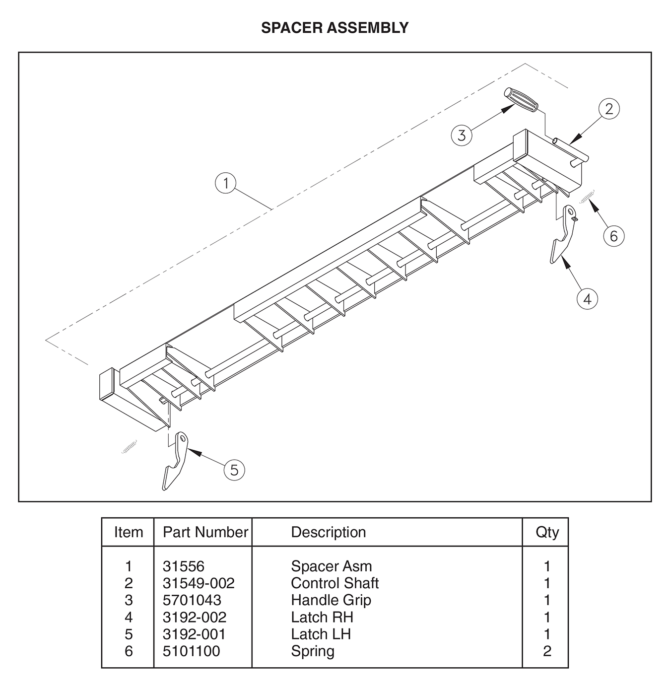 ST 22/31 Spacer Assembly Diagram