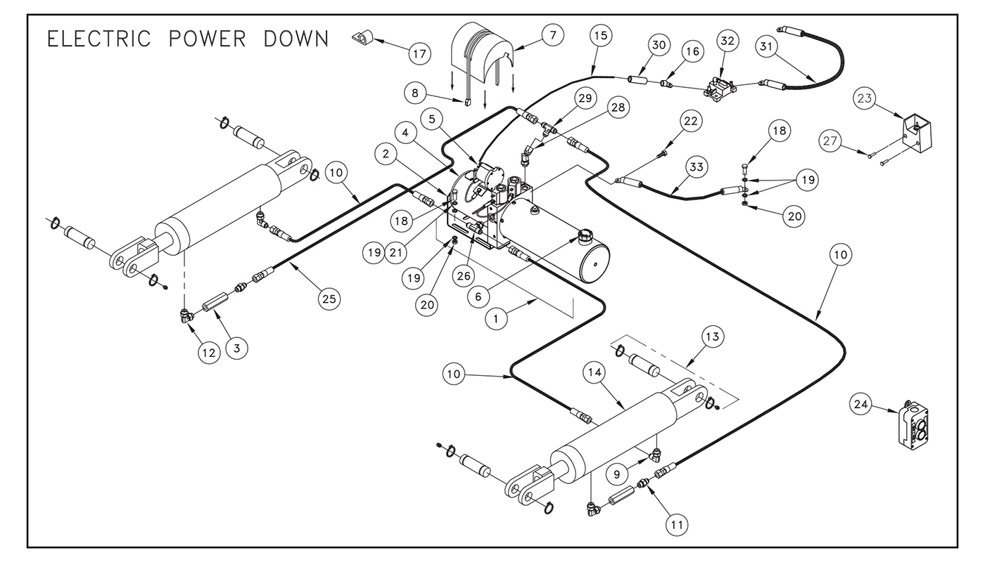 ST31 Electric Control Pump Assembly (Power Down) Diagram