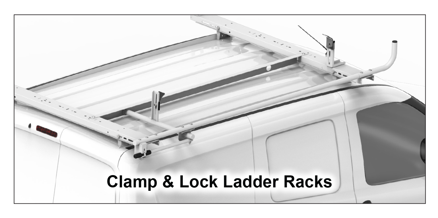 Clamp & Lock Steel Ladder Rack (No Mount Kit Required)
