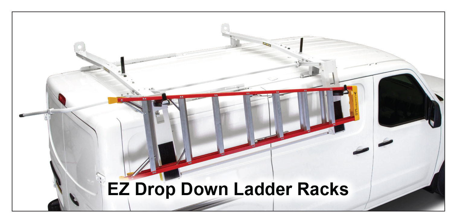 EZ Drop-Down Steel Ladder Rack (No Mount Kit Required)