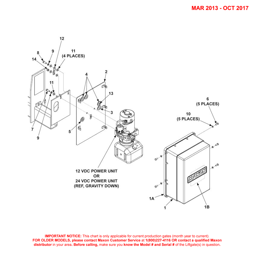 TE-20 (Mar 2013 - Oct 2017) Gravity Down Pump Cover And Mounting Plate Assembly Diagram