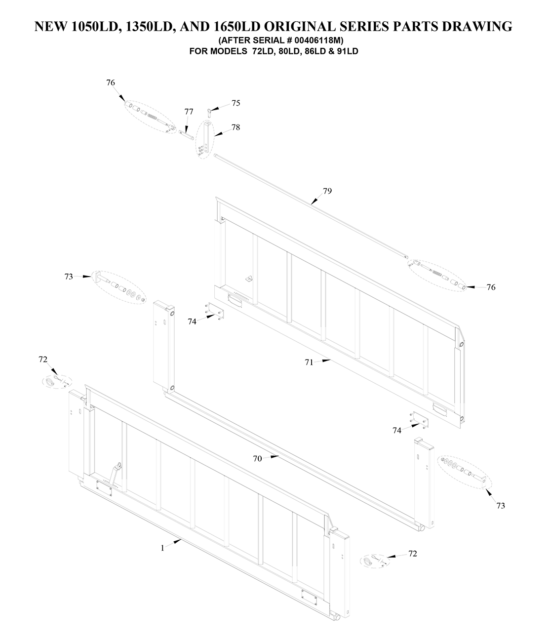 Tommy Gate Original Series Lift-And-Dump Diagram [Flatbed, Stake & Van]