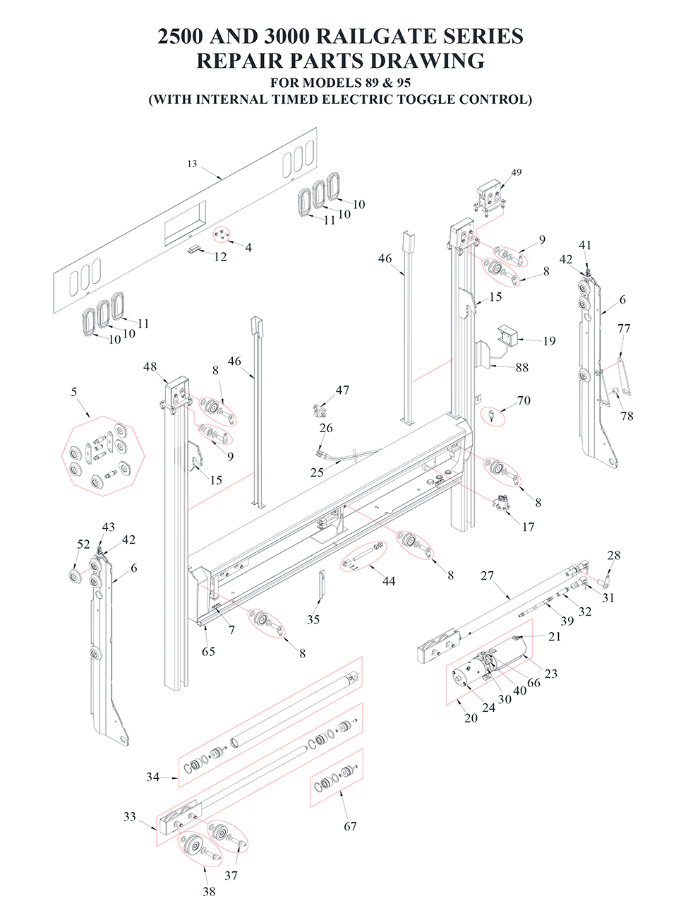 Liftgate Diagrams Tommy Gate Parts Shop Ite Flatbed Wiring Diagram Railgate Series Bi Fold 1 Of 2