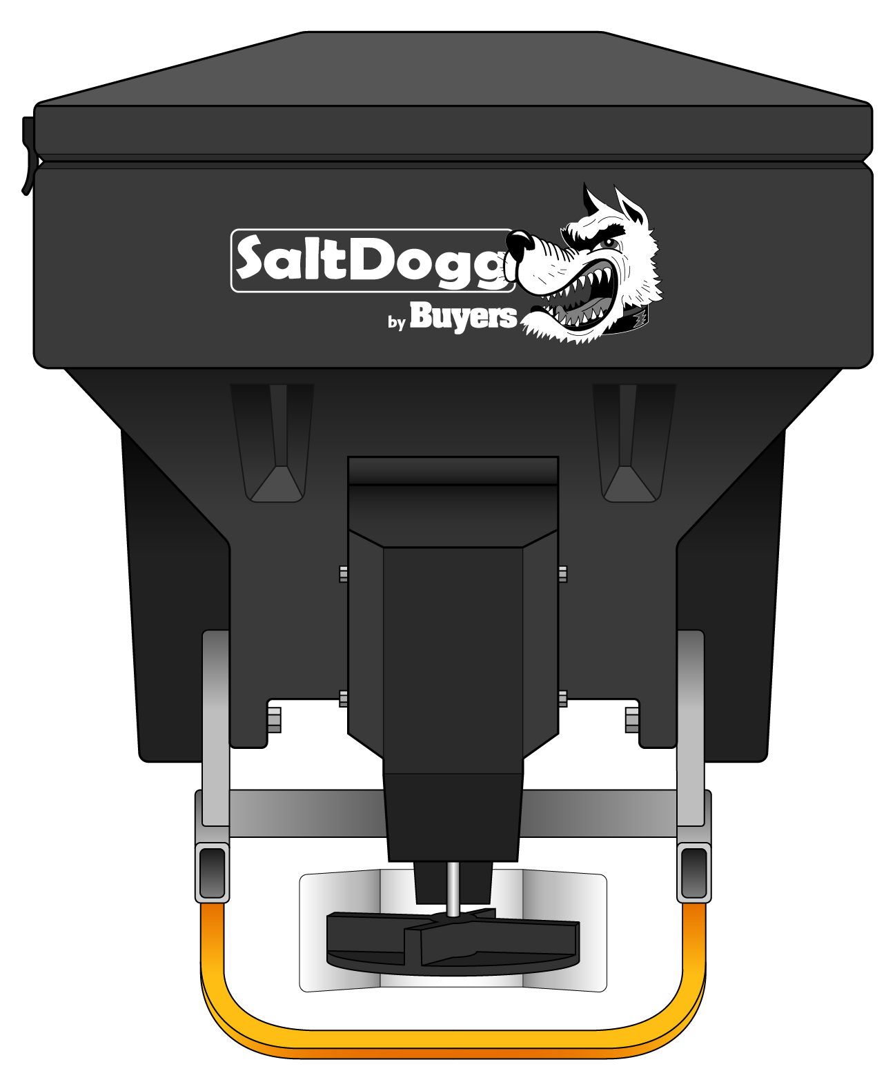 TGS03-S.A.M. SaltDogg TGS03 8.0 Cubic Foot Black Polymer Electric Tailgate Spreader