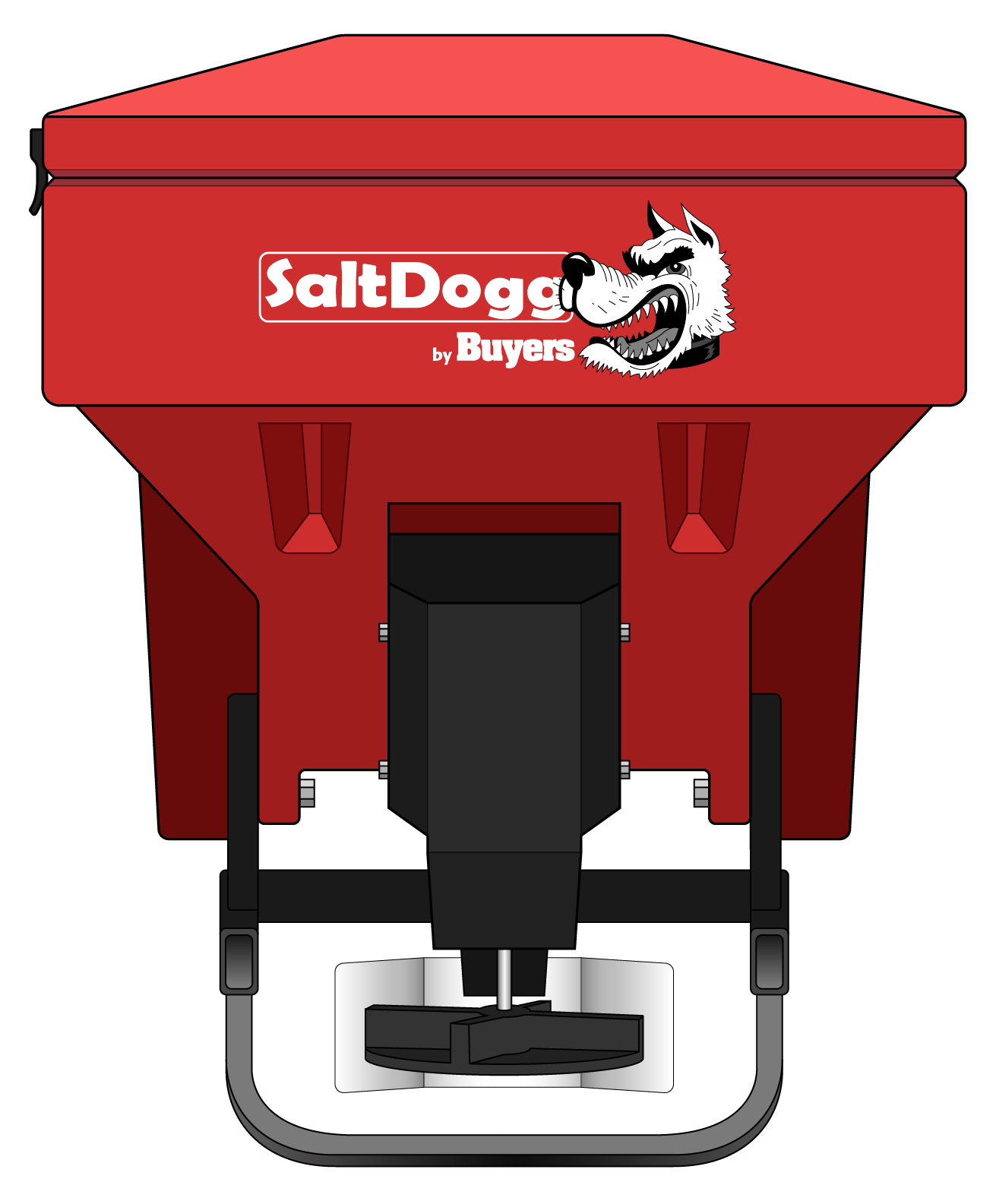 TGS03RED-S.A.M. SaltDogg TGS03 8.0 Cubic Foot Red Polymer Electric Tailgate Spreader