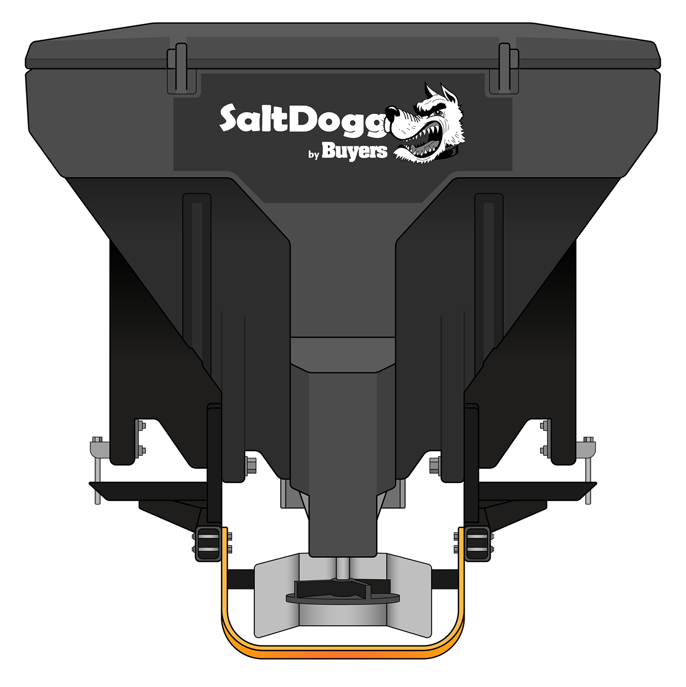 TGS07-S.A.M. SaltDogg TGS07 11.0 Cubic Foot Black Polymer Electric Tailgate Spreader