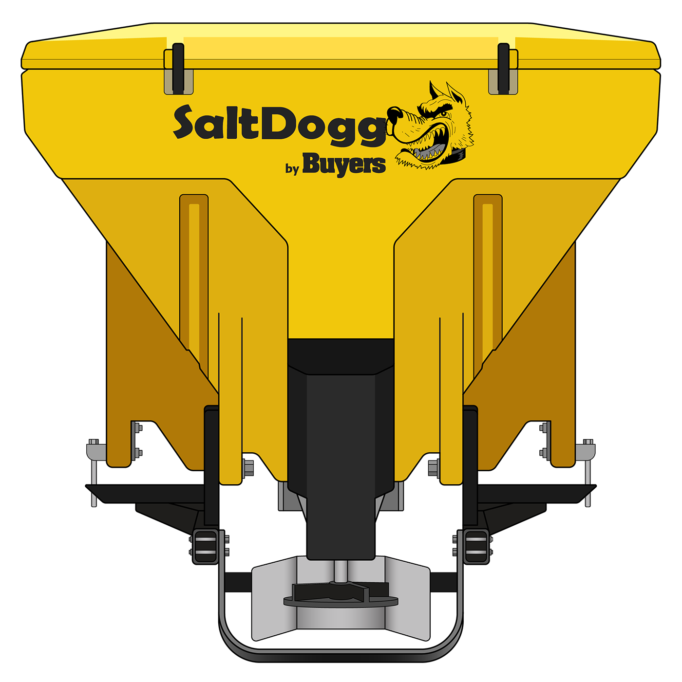 TGS07YEL-S.A.M. SaltDogg TGS07 11.0 Cubic Foot Yellow Polymer Electric Tailgate Spreader