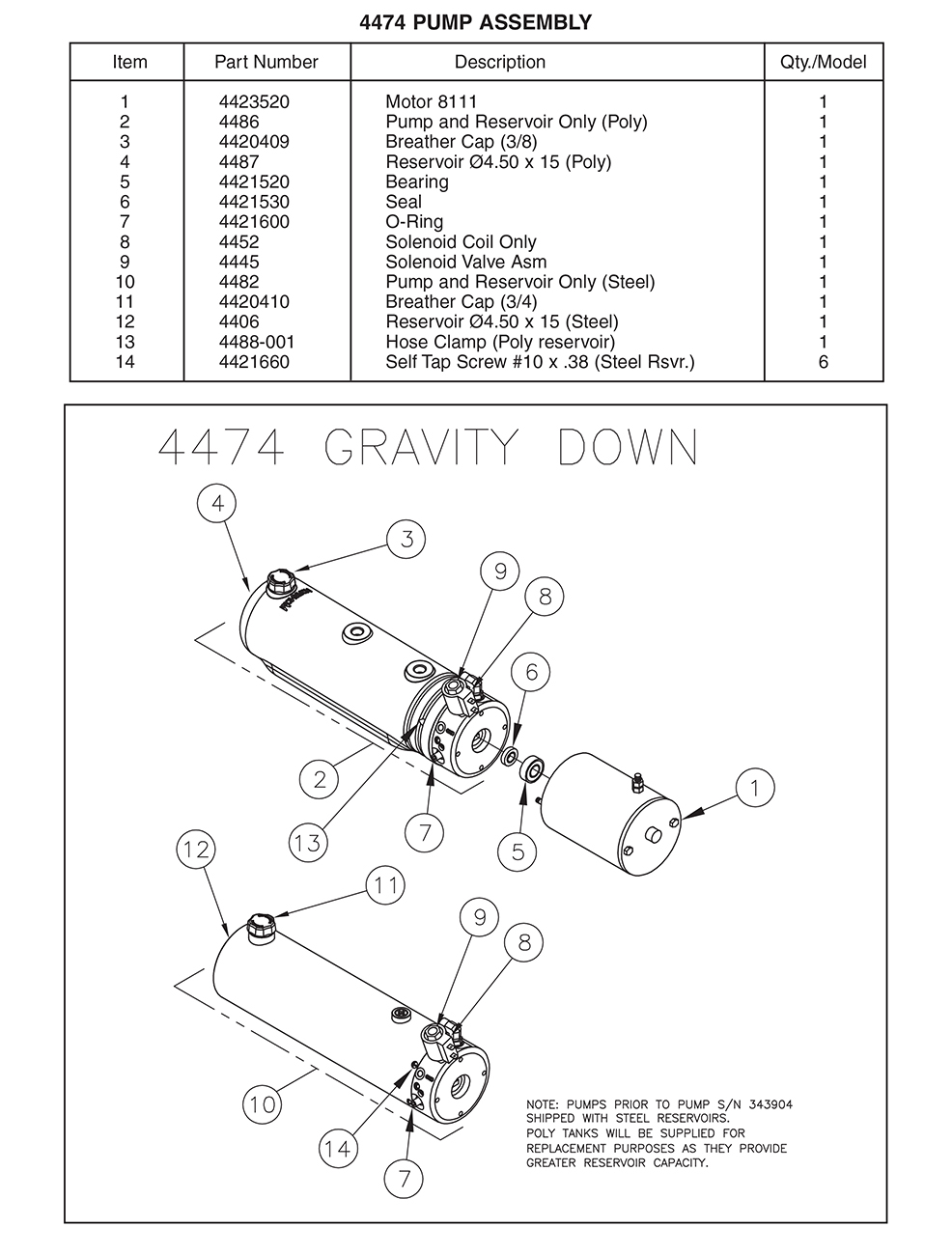 Thieman 4474 Pump Assembly Diagram