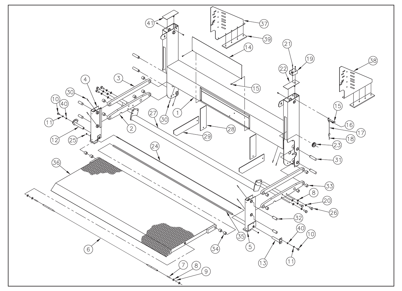TT20ETAL Undercarriage & Platform Assembly Diagram
