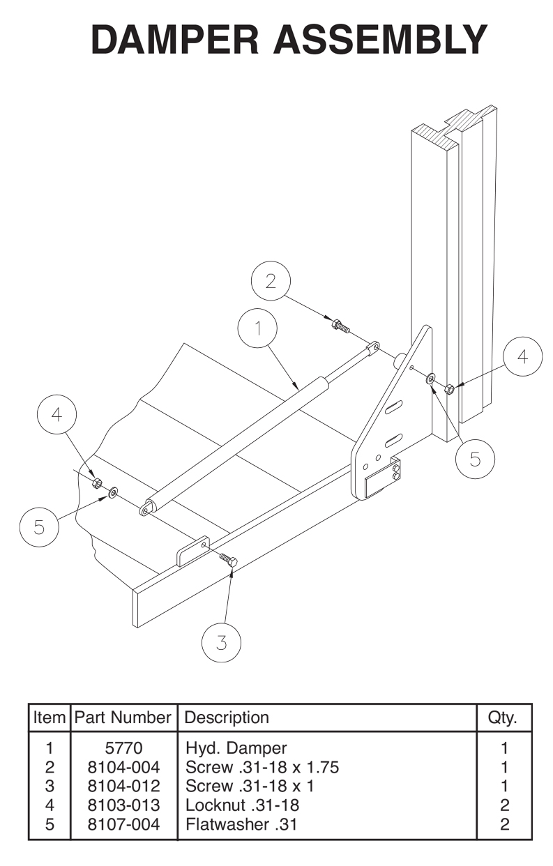TVLR 20/20A Damper Assembly Diagram